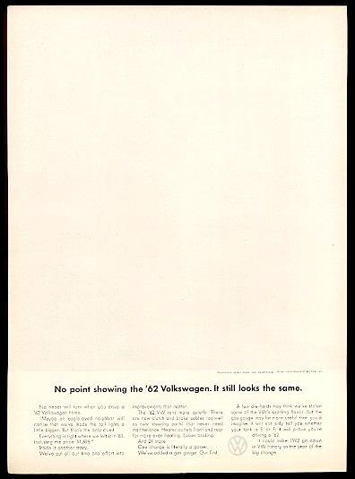 Cliente: Volkswagen; agenzia DDB, 1962